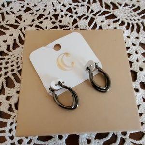 Charming Charlie Jewelry - Charming Charlie's Gunmetal oval earrings